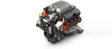 Spercharged 6.2L HEMI® SRT Hellcat V8 Engine